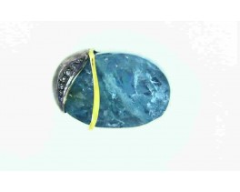 ANELL PLATA OR I PEDRA-21,5